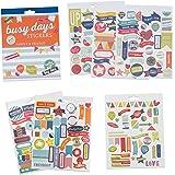 Set di adesivi per planner e scrapbook Busy Days di Boxclever Press. 238 adesivi colorati a tema famiglia e amici. Adesivi per scrapbooking, agenda e bullet journal