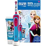 Oral-B Stages Power Kids Electric Toothbrush Featuring Frozen Characters, Gift Pack Including Toothpaste