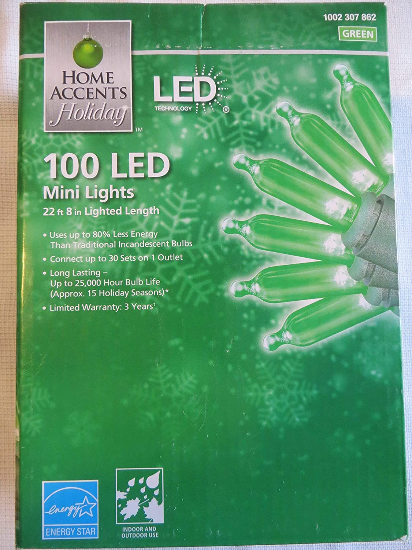 Home Accents 100 LED Green Mini Lights