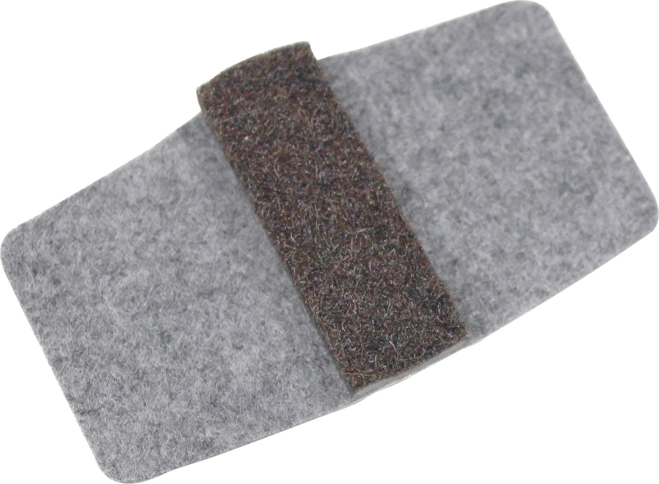 Wrap Around Floor Savers for Chairs with Sled Bases 100 Pack Grey Small by Shaw