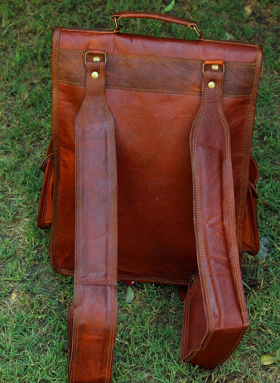handmadecraft Vintage Bag Leather Handmade Vintage Style Backpack//College Bag