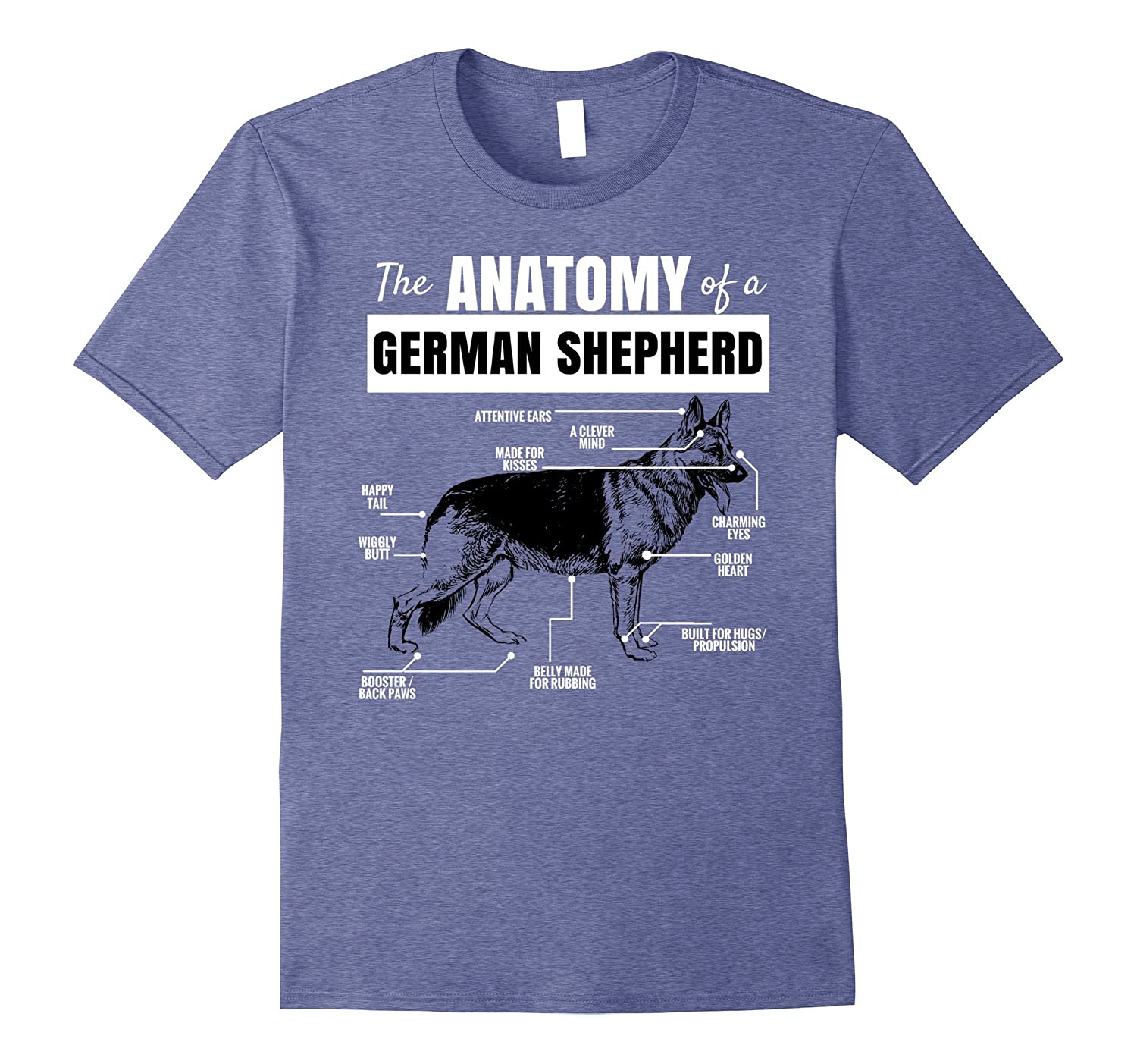 Anatomy of a German Shepherd T-Shirt Funny Dog Shirt-ANZ - Anztshirt