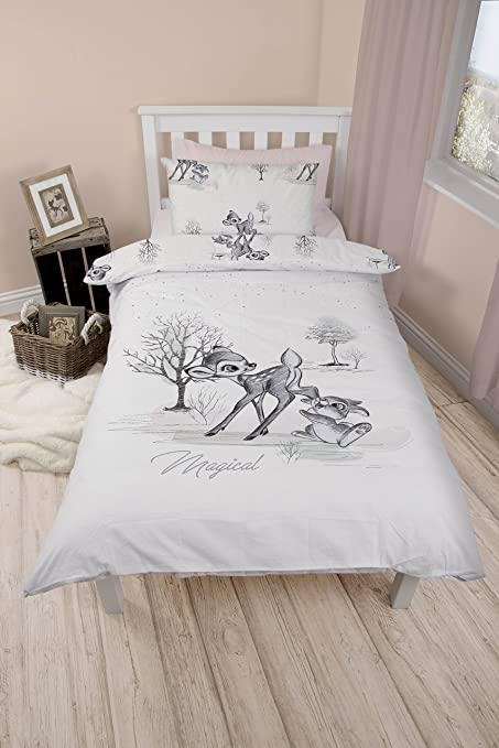 Disney Bambi Wonderland Single Duvet Cover And Pillowcase Set