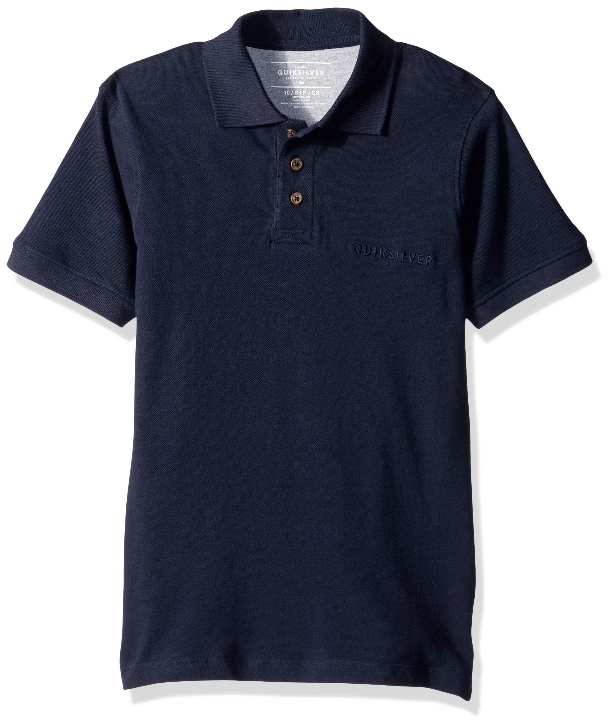 Quiksilver Big Boys' Tori Pass Polo Youth Shirt, Navy Blazer, XL/16