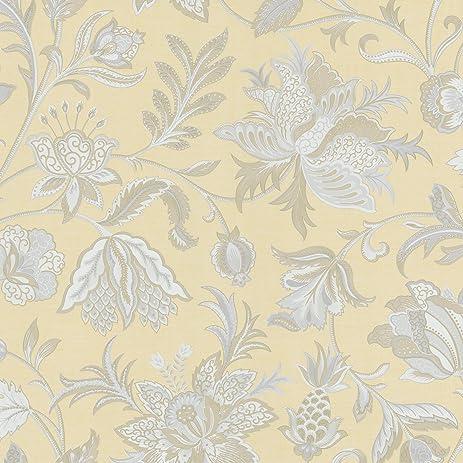 Mirage 988 58619 Ynes Jacobean Wallpaper Yellow