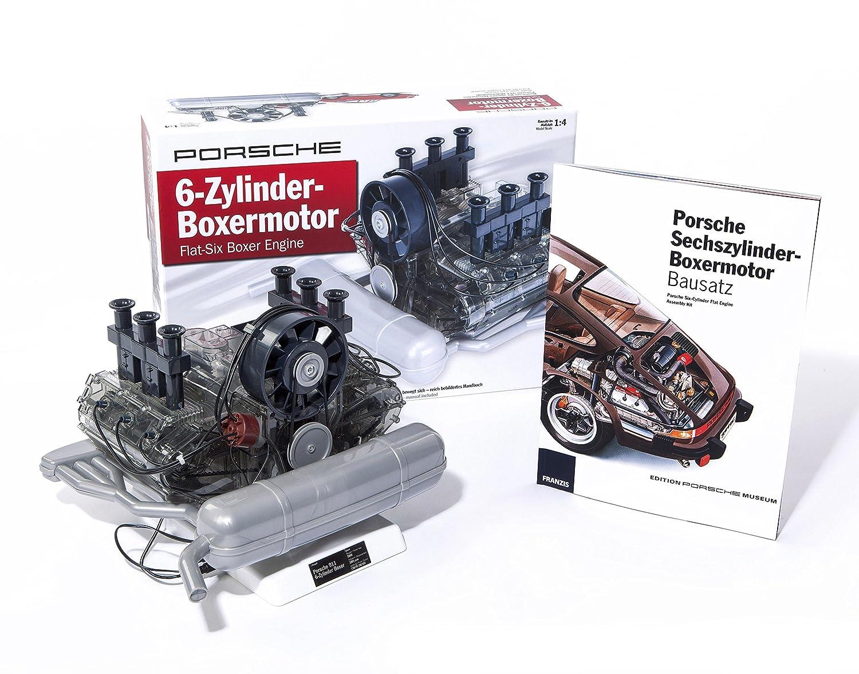 amazon com porsche flat six boxer engine model kit porsche museum rh amazon com RC Car V8 Engine 1 2 Scale Plastic Engines