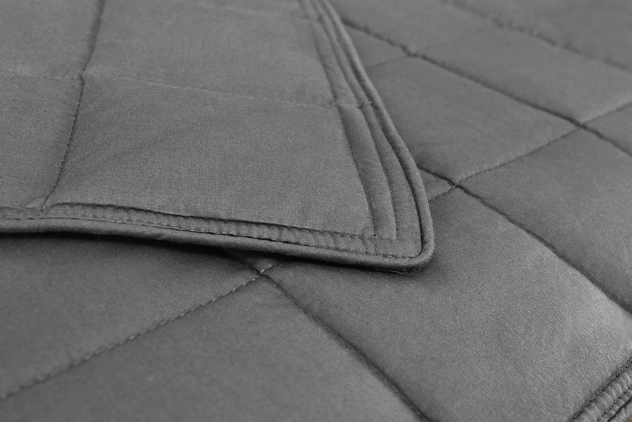 AckBrands 48'' x 78'' - 15 Lb Weighted Blanket - Slate Gray - Premium Cotton with Glass Beads - Double Stitched Edges - Veteran Owned by AckBrands