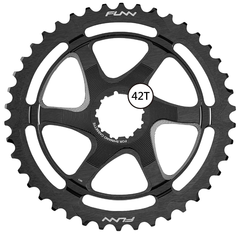 Funnクリンチ拡張子Cog 42t (for Shimano SPD 10 ) B076P97ZQXブラック