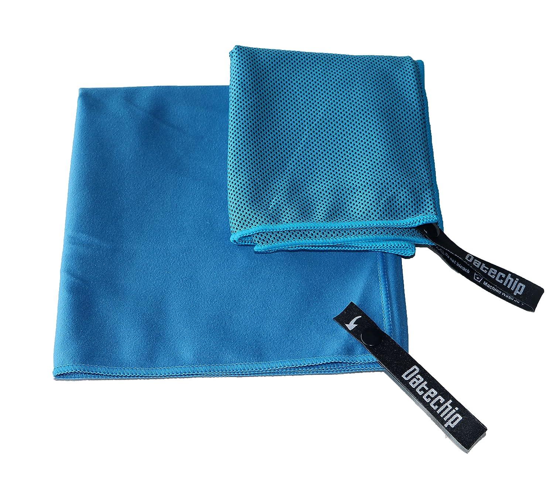 Suave toallas de microfibra deportes de Set–datechip toalla Super absorbente toalla de playa, grande de viaje ligero y de secado rápido para hombres mujeres, incluyendo bolsa de almacenamiento