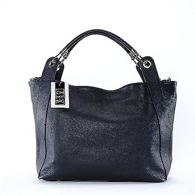 OH MY BAG Sac à main cuir Paris bleu fonce SOLDES  Amazon.fr ... 03af1e60677a