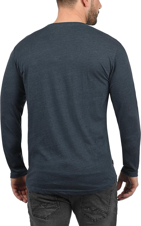 !Solid Beda Herren Longsleeve Langarmshirt Shirt mit V-Ausschnitt