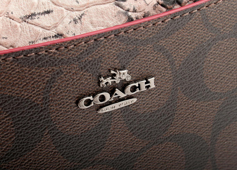 Coach Morgan Clutch 24 in Signature with Exotic Mix Trim, F54628 QBFDC