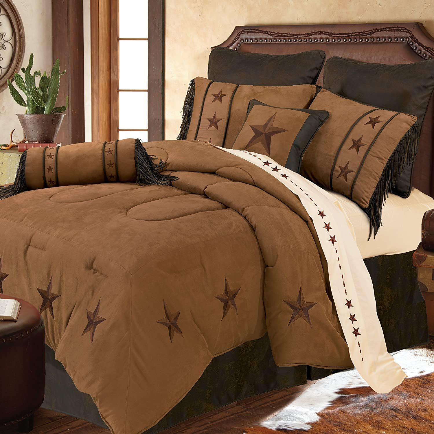 HiEnd Accents Laredo Tan Western Bedding, Twin