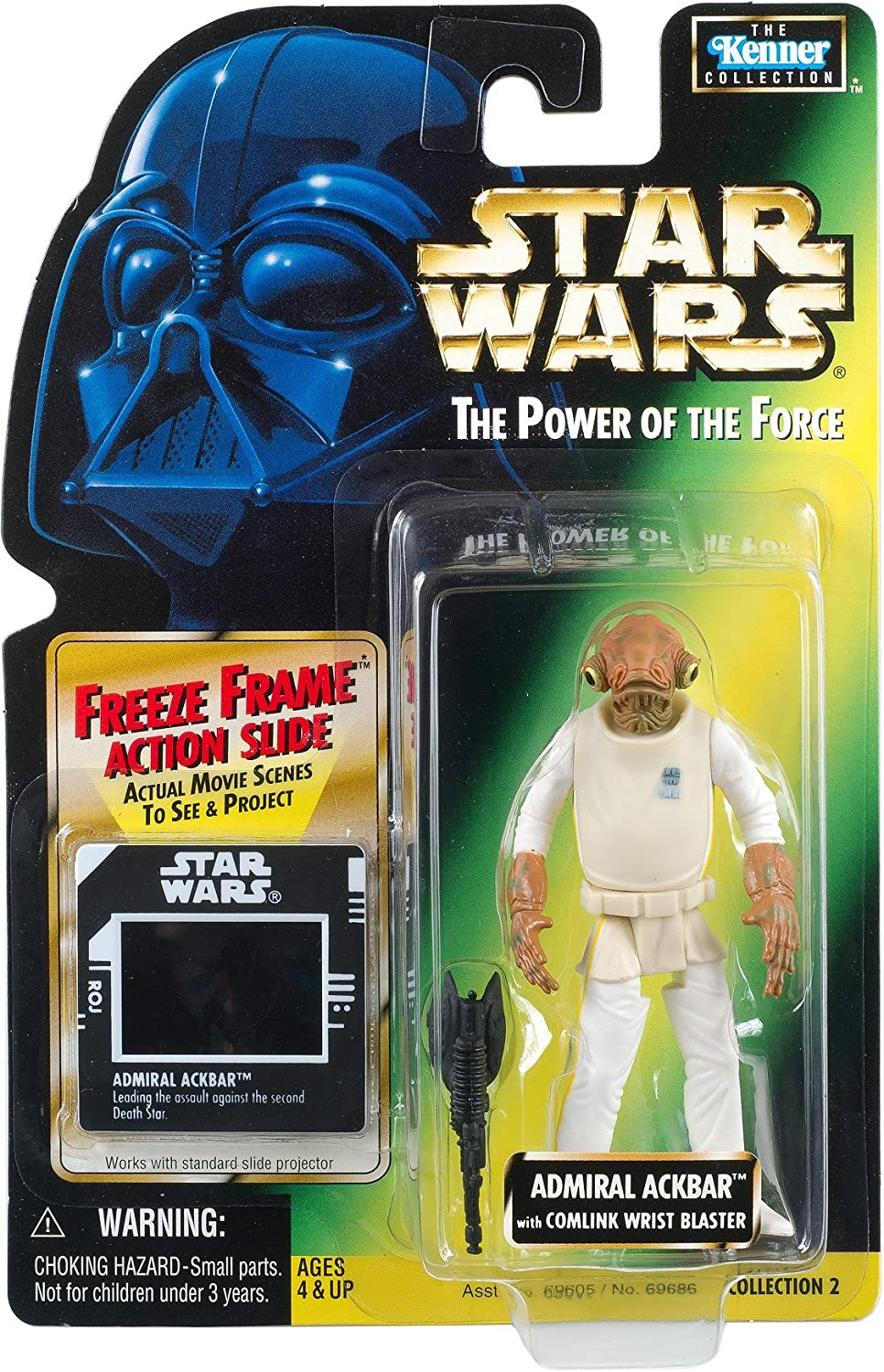 Star Wars Power of The Force Freeze Frame Admiral Ackbar