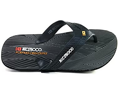81377f9a428e Nicoboco Men s Thong Sandals Black Black  Amazon.co.uk  Shoes   Bags