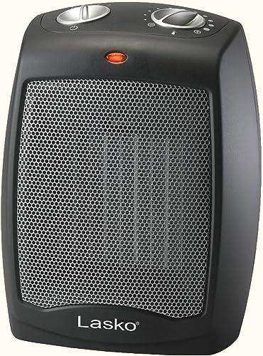 Lasko Ceramic Adjustable Thermostat Tabletop or Under-Desk Heater