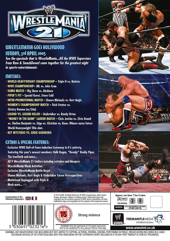 WWE: WrestleMania 21 [DVD] [Reino Unido]: Amazon.es: John Cena, Kurt Angle, Shawn Michaels, Triple H: Cine y Series TV