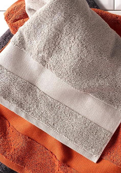 hessnatur Toalla de rizo de algodón orgánico puro, kashmir, 50 x 100 cm