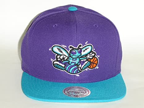 Image Unavailable. Image not available for. Color  Mitchell   Ness NBA New  Orleans Hornets 2Tone Purple Turquoise Snapback ... c22ee064ab2