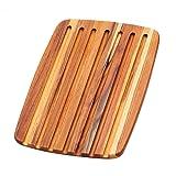 Teak Haus th409tagliere per pane, legno, Multicolore, 40,6x 27,9x 1,4cm