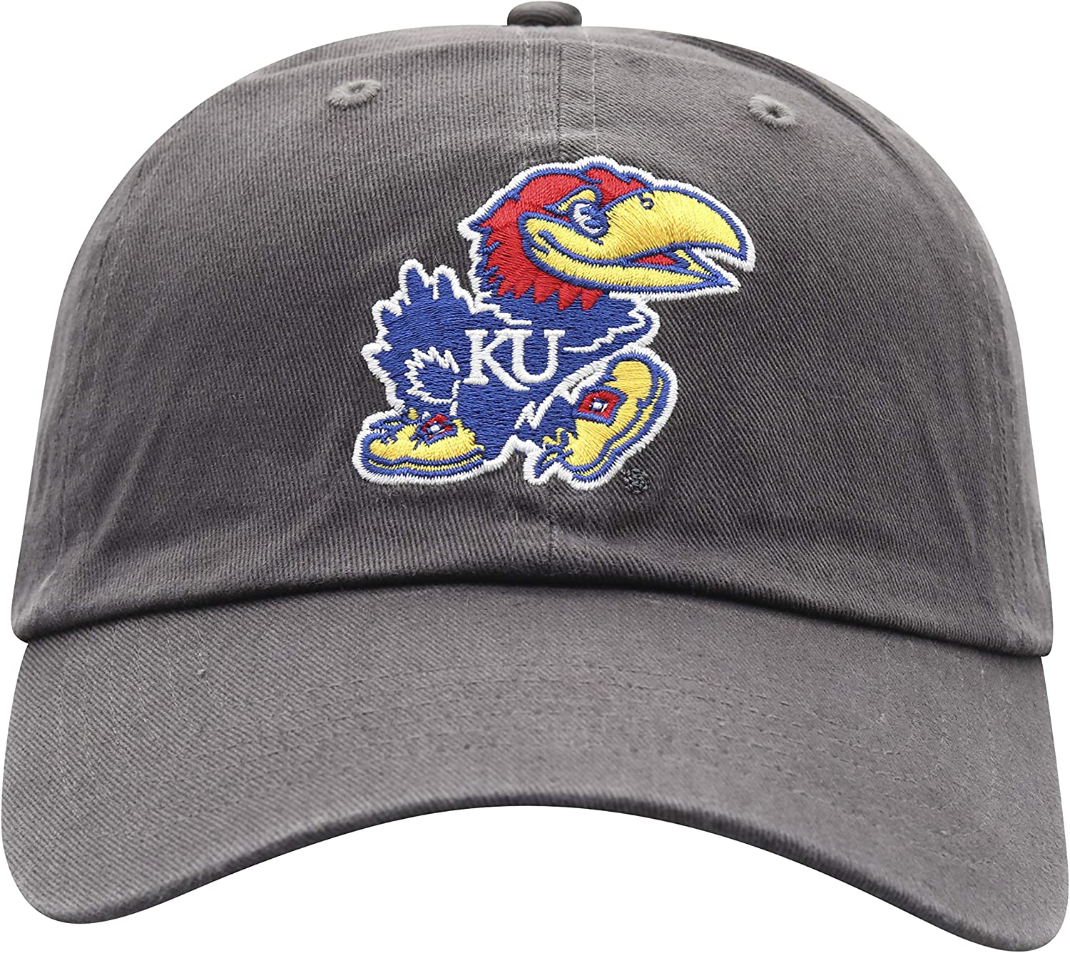 Top of the World NCAA Kansas Jayhawks Mens Adjustable Relaxed Fit Charcoal Icon Hat Charcoal