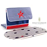Premium Baby Bath Tub Kneeler + Non Slip Bath Mat | Machine Washable, Quick-Dry, Fully Adjustable with Suction Cups + Mesh Storage Pockets | Detachable Foam Kneeling Pad Cushion Mat with Zipper Bag