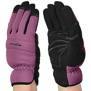 AmazonBasics Women's Work or Garden Gloves - Purple, M