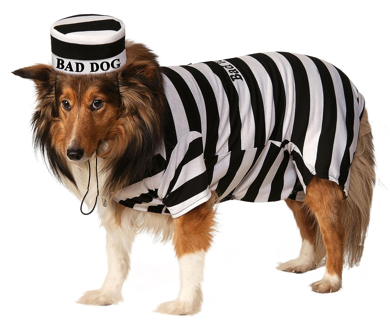 5dc2039db8 Amazon.com : Rubie's Pet Costume, Medium, Prisoner : Pet Supplies