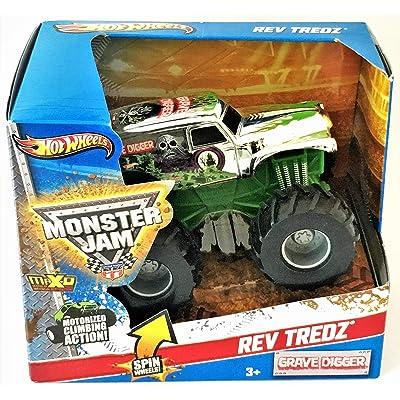 Hot Wheels Monster Jam Rev Tredz - (Chrome) Grave Digger!: Toys & Games [5Bkhe0806529]