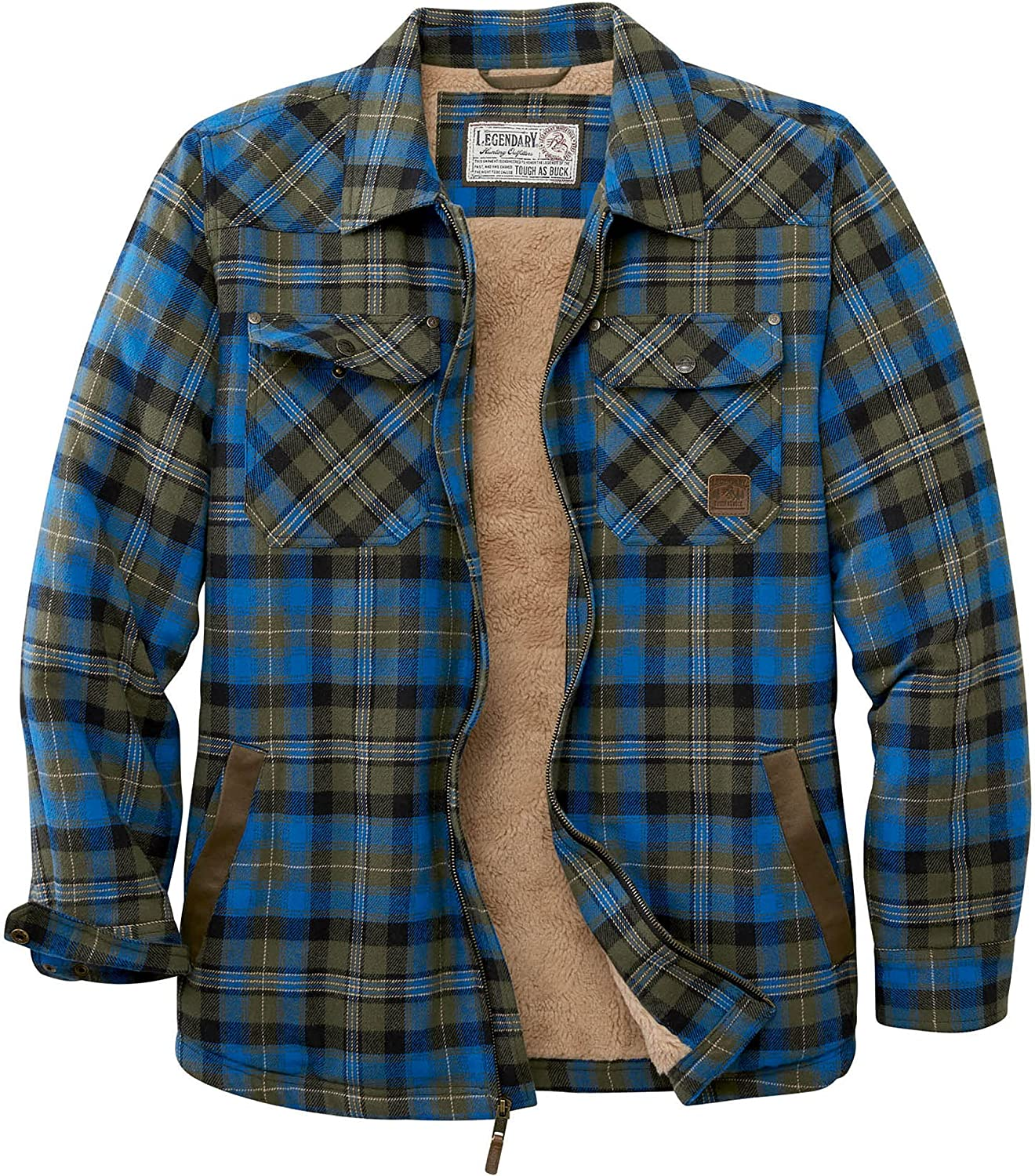 Super sale period limited Large special price !! Legendary Whitetails mens Tough as Flannel Buck Berber Shi Lined
