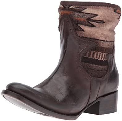 Freebird Women's Shine Ankle Bootie, Brown, ...