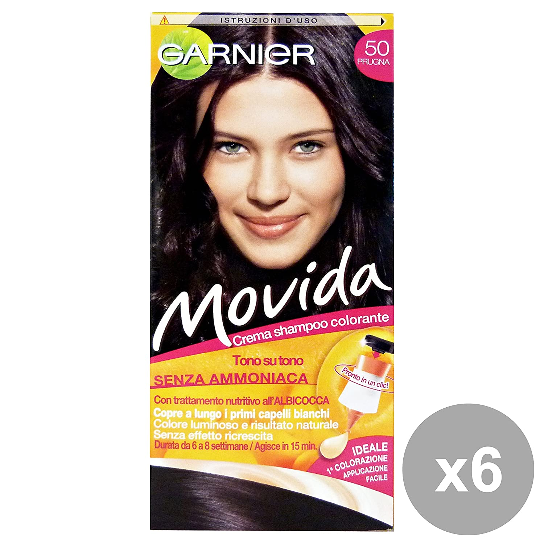 GARNIER Set 6 Movida 50 Plum Ammoniac Libre Produits Pour Les Cheveux