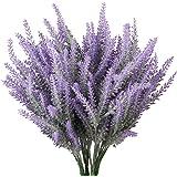 TYEERDEC Artificial Flowers 6 Bundles Lavender Bouquet for Wedding Home Office Decoration - Purple