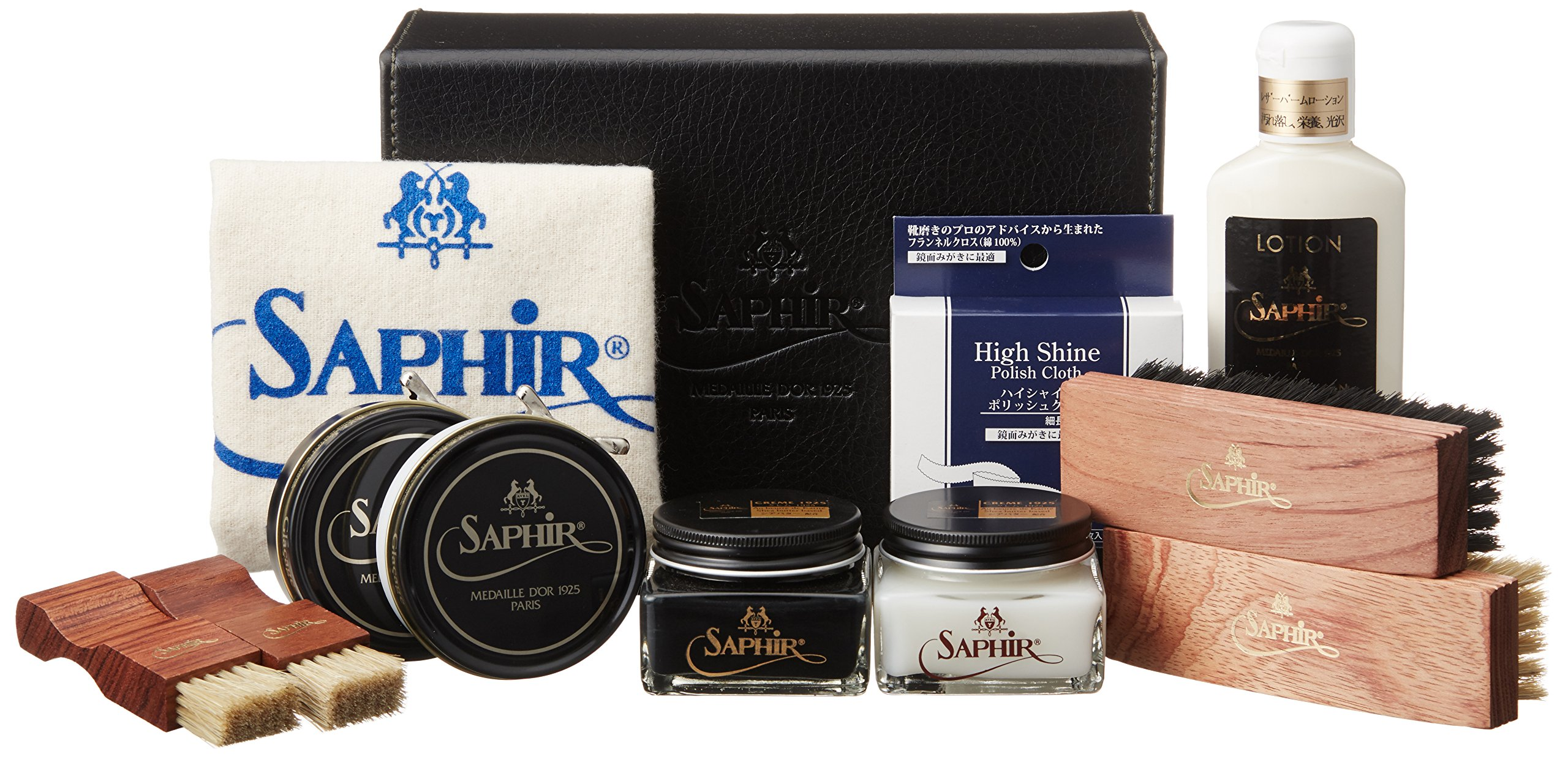 [Saphir Noir] Deluxe High Shine set Large 4900123000 neutral black, without neutral size