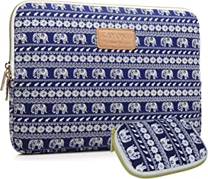 Kayond KY-23 Canvas Fabric Sleeve for 15.6-17Inch Laptops - Elephant Patterns