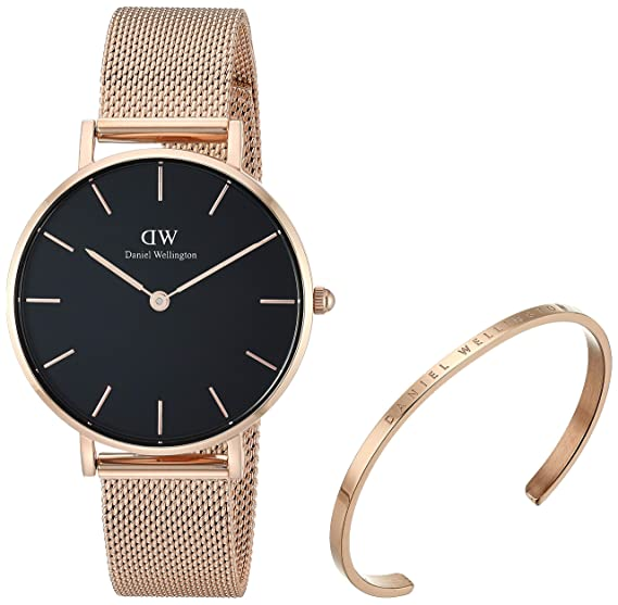 a503dd7d81ff49 Daniel Wellington Gift Set, Classic Petite Melrose 32mm Watch with Rose  Gold Classic Cuff: Amazon.ca: Watches