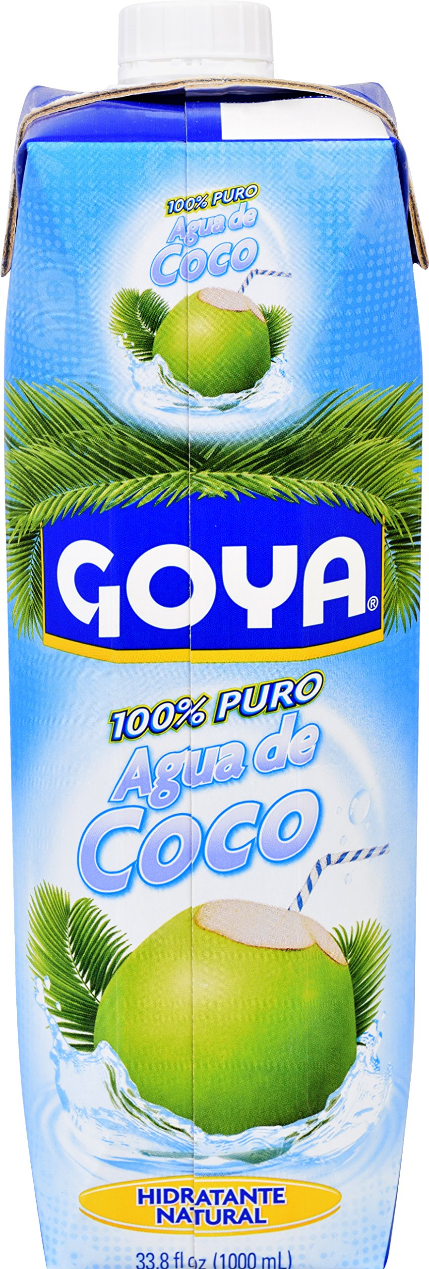 Goya Foods Pure Coconut Water, 33.79 oz (Pack of 12)