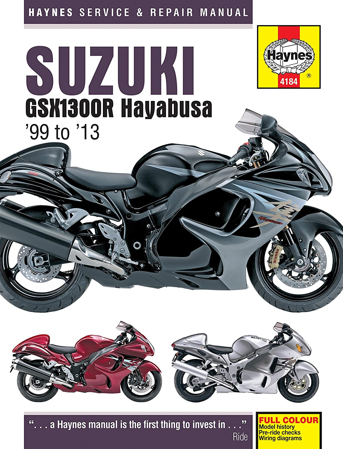 Suzuki GSX 1300 Repair Manual Haynes Service Manual Workshop Manual 1999-2004 Haynes Publishing