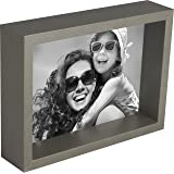 5 x 7-Inch Box Picture Photo Frame, Grey