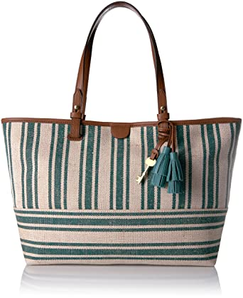 1a6596ef2 Amazon.com: Fossil Rachel E/W Tote Bag, Teal Green: Clothing