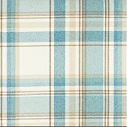 McAlister Heritage 8x4 Fabric Sample Swatch | Sky Blue & White