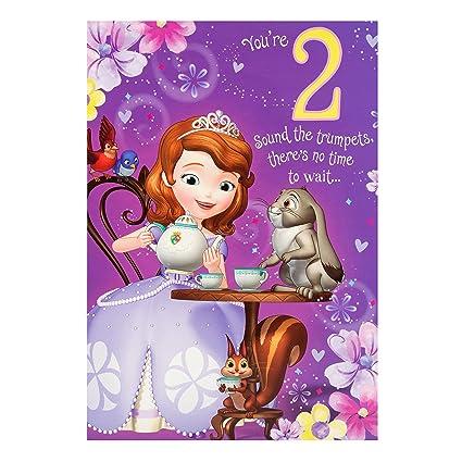 Amazon Disney Princess Sofia 2nd Birthday Card Office Products