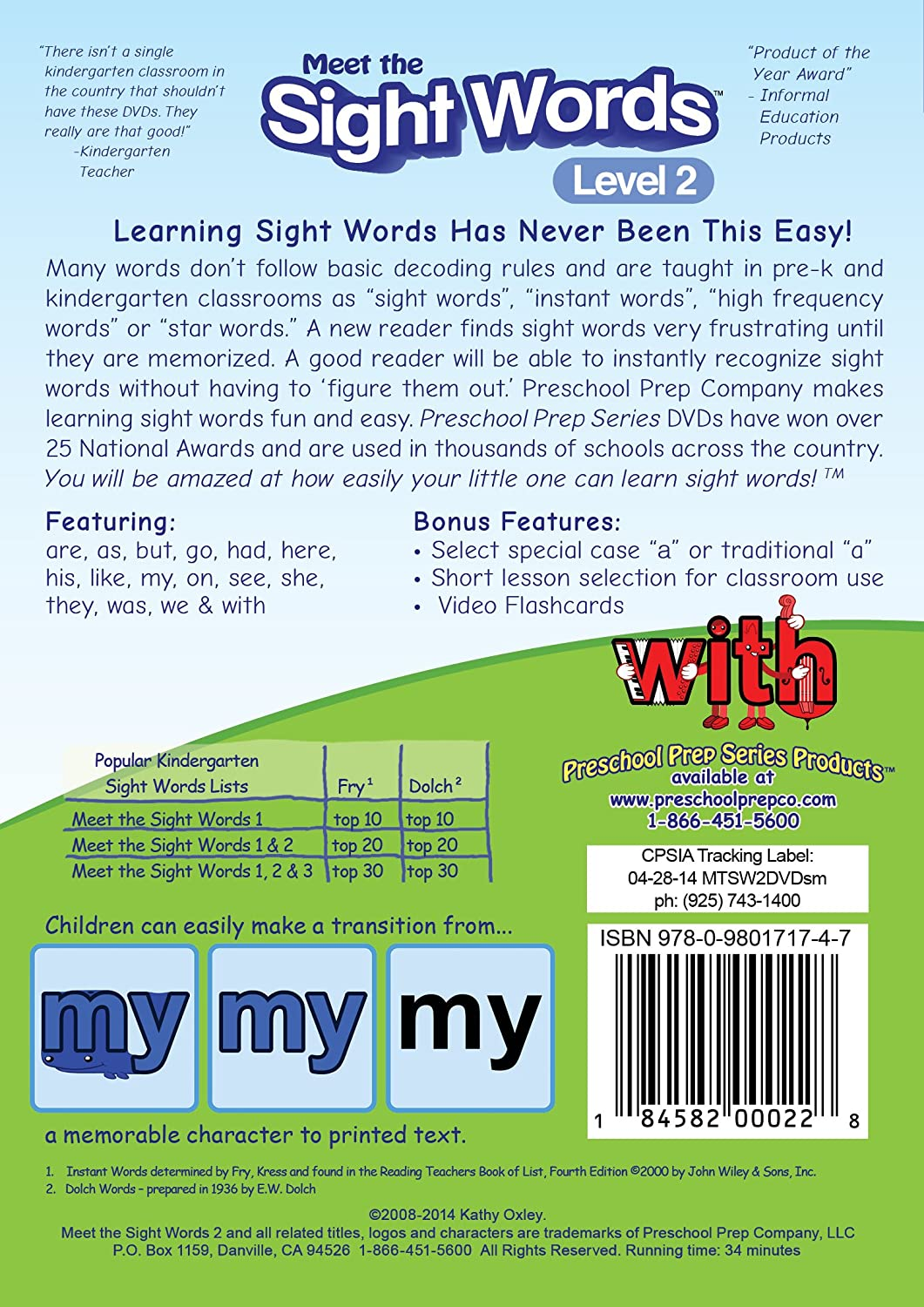 Amazon.com: Meet the Sight Words 2: Preschool Prep Company: Movies & TV
