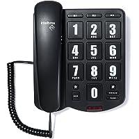 Telefone com Fio, Intelbras, TOK Fácil, Preto