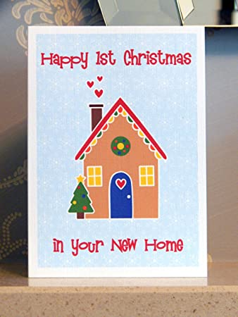Happy first christmas in your new home card new house 1st xmas happy first christmas in your new home card new house 1st xmas greeting card m4hsunfo
