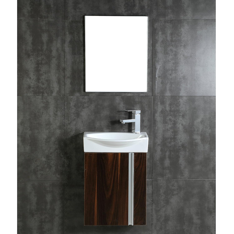 Amazon.com: Fine Fixtures Compacto Small Bathroom Vanity Set With ...