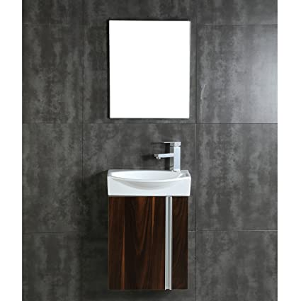 Incroyable Fine Fixtures Compacto Small Bathroom Vanity Set With Sink  Wall Hung  Cabinet  Sink Top