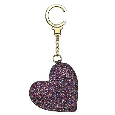 Amazon com: KATE SPADE glitter heart keychain (ROSEGOLD