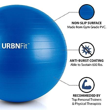 URBNFit Pelota de gimnasio para ejercicio (varios tamaños y colores ... 52bf7468d636