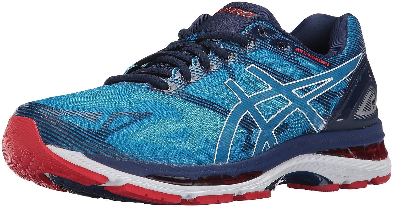 ASICS Men's Gel-Nimbus 19 Running Shoe, Diva Blue/White/Indigo Blue, 8 Medium US 41 EU|Diva Blue/White/Indigo Blue